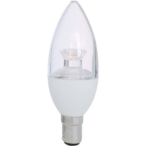 LED CANDLE 7W B15 500LM 3000K CLEAR DIMMABLE 25,000HRS